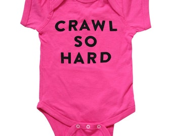 Hip Hop Onesie - Funny Baby Gift Clothes Bodysuit - Rap Kids Shirt - Cool Girls Kanye West - Hot Pink - Baby Shower - Ball So Hard