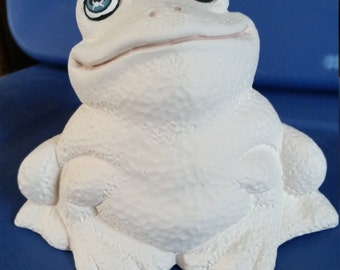 Ceramic Bisque Frog ready for you to paint