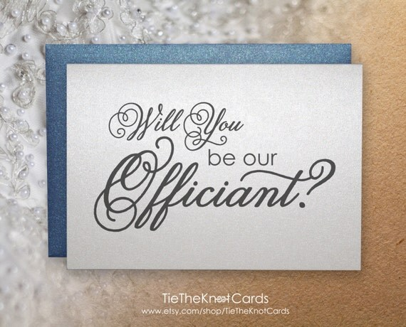 Wedding Officiant Gift Ideas: Will You Be Our Officiant Gift Wedding By TieTheKnotCards