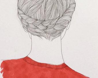 Girl in Red - Illustration
