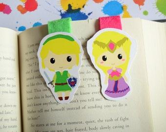Legend of zelda magnetic bookmark Link and Zelda