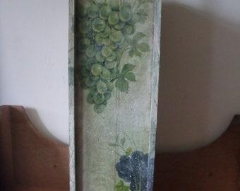 wooden single bottle wine box,decoupage wine box,handmade decoration