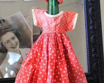 Vintage Doll Dress with hair tie back (2 pcs)