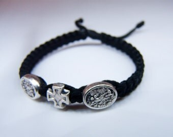 St. Michael macrame bracelet for kids