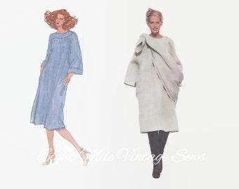 Vintage Vogue Oscar de la Renta Sewing Pattern - Vogue 1785 - Vogue American Designer - Dress & Shawl - Size 8 Bust 31 1/2 - 1970s Sewing