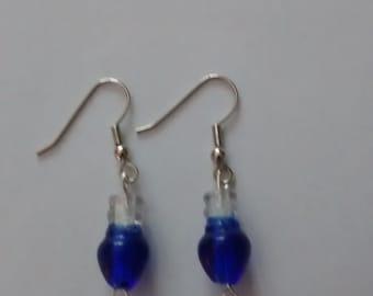 Christmas light bead earrings