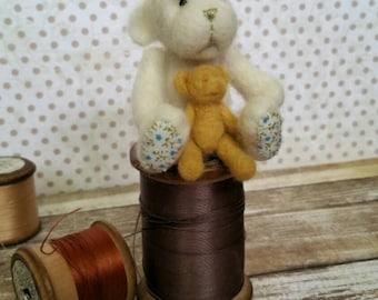 Needle felted animal needle felted bear felt animal felted animal teddy bear felted bear teddy bear gift