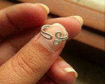 anello regolabile in alluminio per mignolo mezzo dito