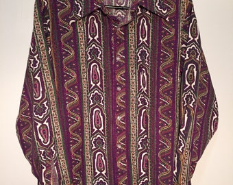 1970's Paisley 417 Van Heusen button-down /// FREE SHIPPING