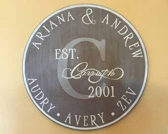 Personalized Monogram Wall Decor Plaque