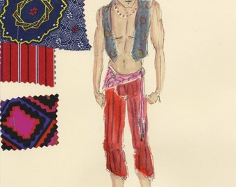 Papa Ge - Once On This Island Original Costume Rendering