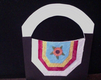 flower bag card