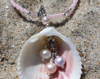 Beach jewelry - handmade beach necklace - shell jewelry - shell necklace