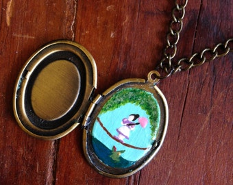 Haunted Mansion Tightrope Walker Painting Locket (Hand Painted)
