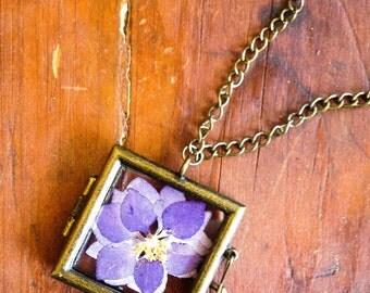 Real Dried Flower Locket