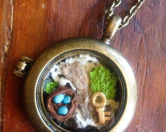 Found Things Nature Locket Necklace