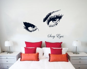 Wall Decal Sexy Eyes Etsy - Wall decals eyes