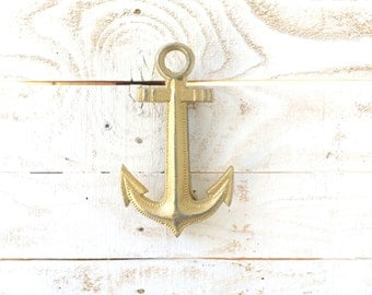 Iron Anchor Door Knocker, Home Decor, For The Home, Beach House, Nautical, Customize