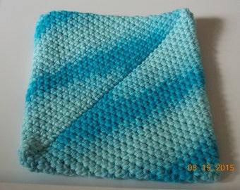 Crochet Potholder Double Thick for the kitchen, Crochet Trivet