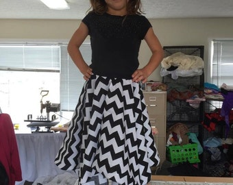 Girls Chevron Hankerchief Skirt