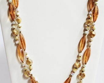 Amber Colored Vintage Necklace
