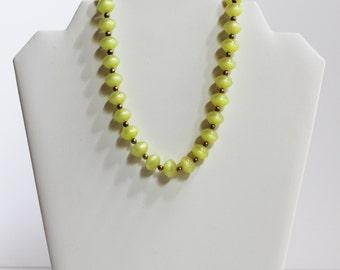 Key Lime Vintage Necklace