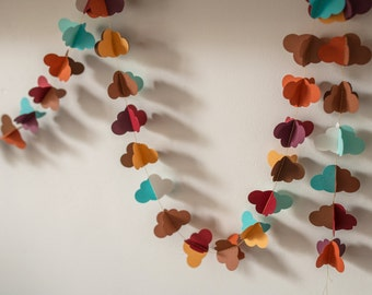 Cardstock paper Garland form clouds autumn