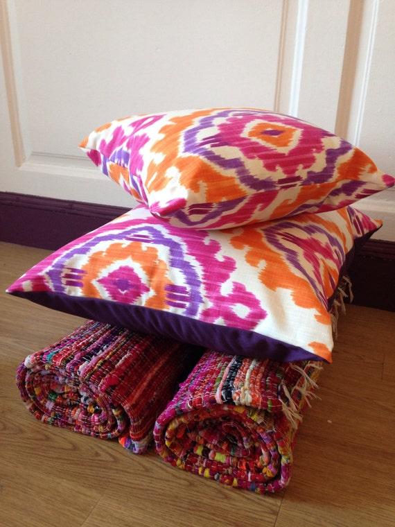Etsy Large Floor Pillows : Handmade large fabric floor cushion / pillow by VioletLuxHandmade
