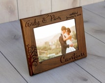 Personalized Picture Frame, Walnut Picture Frame, Personalized Photo Frame, Custom Photo Frame, Wedding Gifts, Custom Frame --pf-wal-andypam