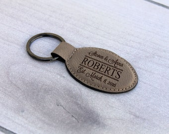 Personalized Key chain, Custom Key chain, Custom Leather Key chain, Engraved Leather Key Chain, --KEY-LOLB-Roberts