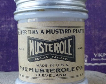 Musterole collectible jar with perfect label