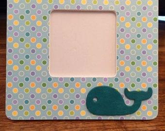 Polka Dot Whale Frame