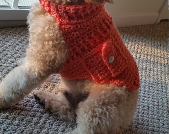 Coral Doggie Sweater with Pocket, Free Shipping!