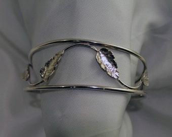 Vine and Leaf Cuff Bracelet