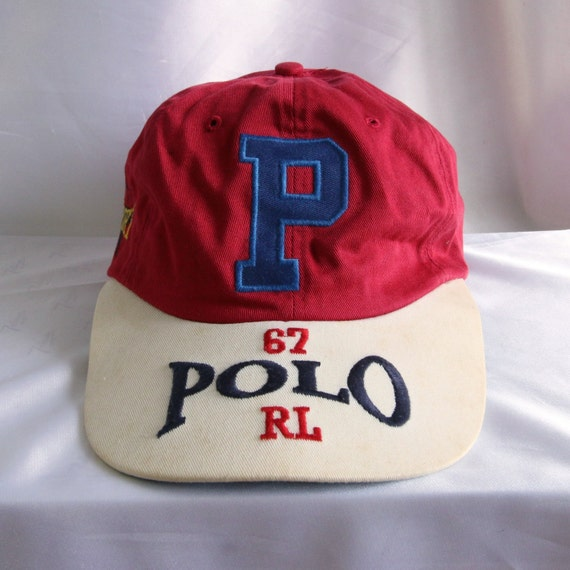 Vintage Ralph Lauren Polo Sport Usa 67 Rl On Rim Hat Excellent