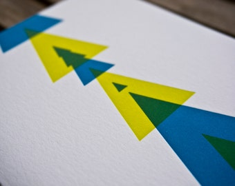 Geometric Holiday Greeting Card Set