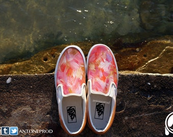 Pair of sneakers Vans Classic Slip-On custom ABSTRACT By Antoneprod