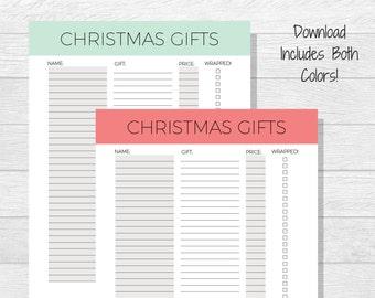 Gift tracker | Etsy
