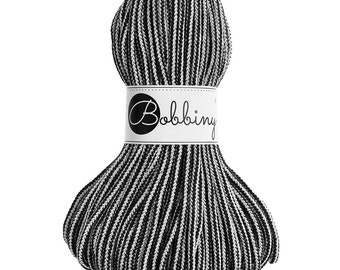 Bobbiny Rope – Black & White (50m)