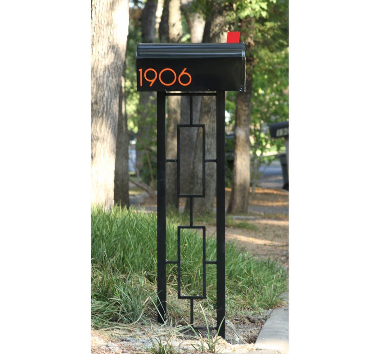 mid century modern style mailbox post. Black Bedroom Furniture Sets. Home Design Ideas