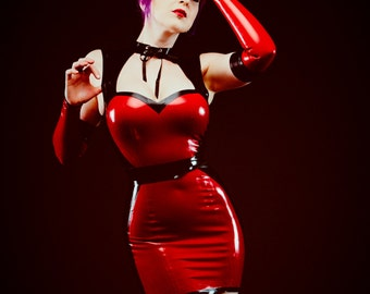 Illusion Latex Dress, in Stock in S + M