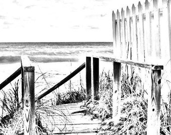 coloring page beach boardwalk digital download adult coloring page coloring page beach scene beach fence image pattern - Palm Tree Beach Coloring Page