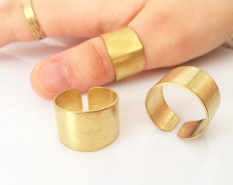 10 pcs 20x13 mm raw brass Adjustable Ring Base
