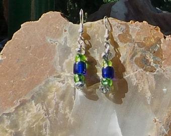 Simply Blue & Green Earrings #21