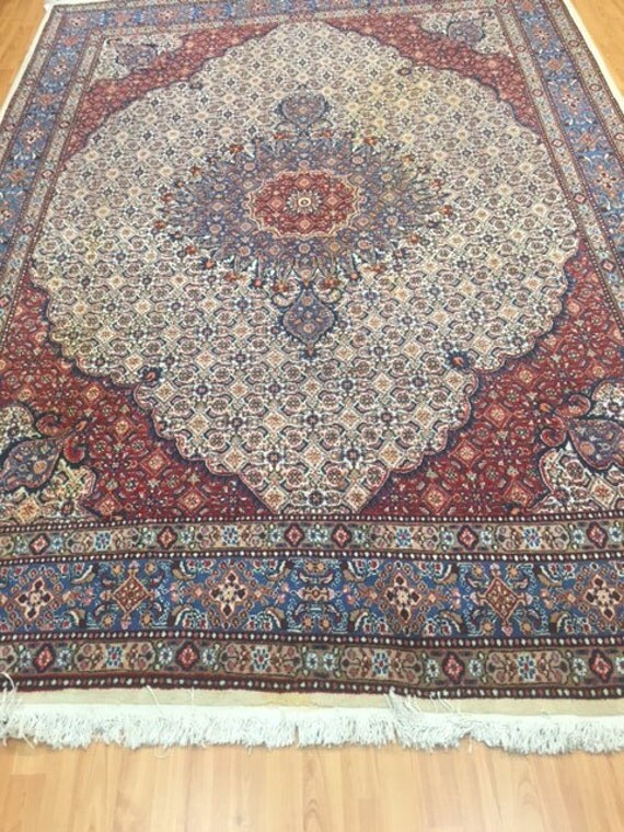 "6'11"" x 9'9"" Persian Moud Oriental Rug - Hand Made - 100% Wool"