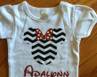 Chevron Minnie Custom Shirt
