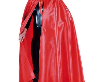 Deluxe Full Circle , Hooded Satin Cloak / Cape