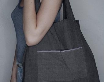 ALBAÏNA Artist bag, tote bag, cotton beach bag, cotton tote bag , market Bag, reversing bag.