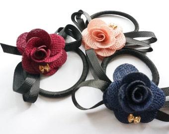 Ponytail Holders, Hair Ties, Flower Hair Ties, , Womens Ponytail Holders