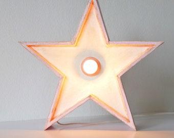 Illuminated star | White and pink